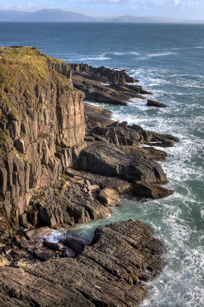 Dingle's diverse coastline contains smooth beaches and treacherous cliffs