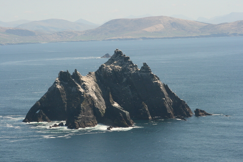 Skellig Island rises out of the ocean in dramatic fashion